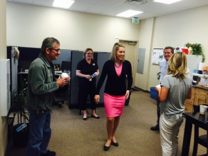Capital Group and KBOI staff share coffee